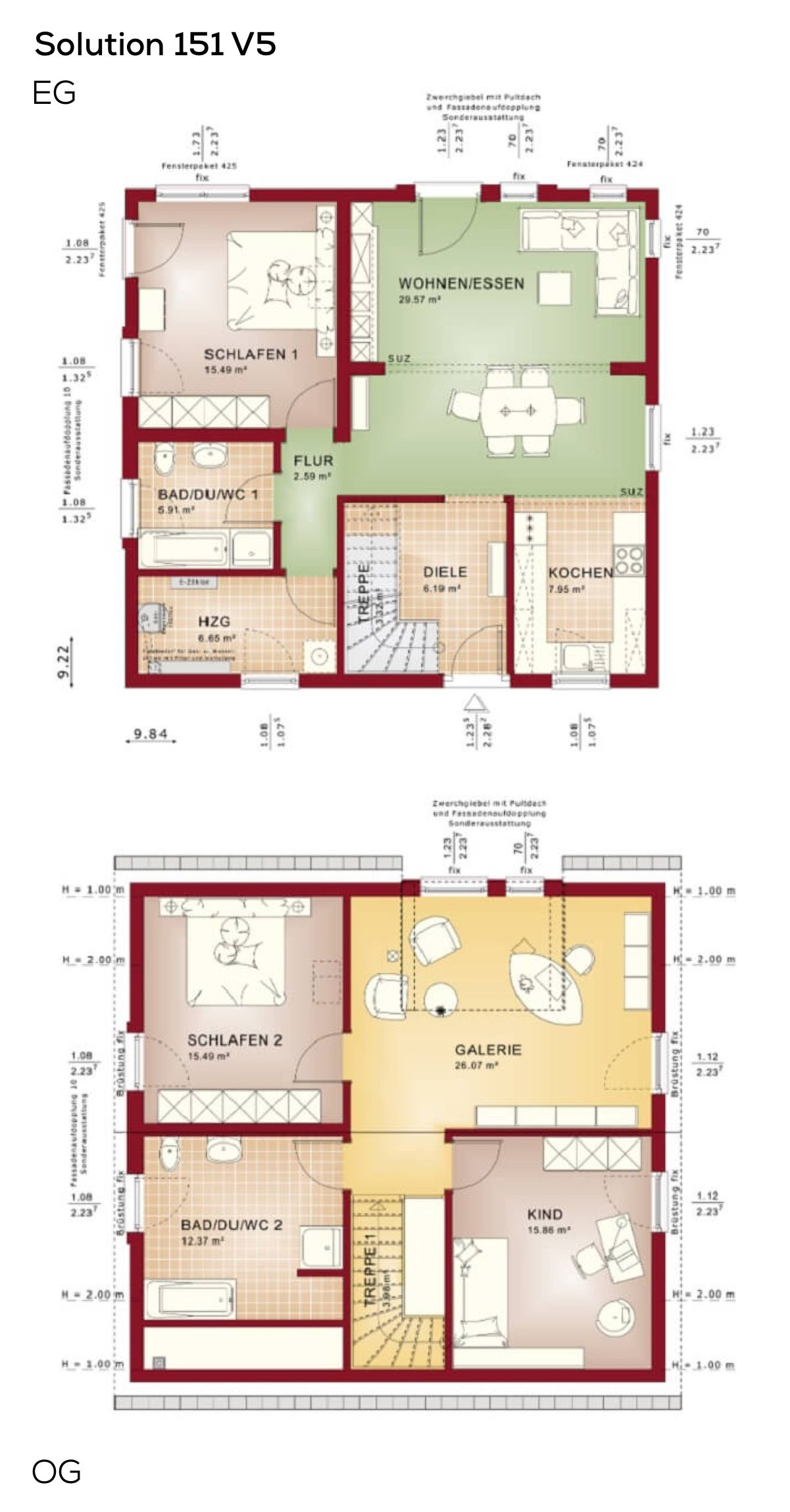 grundrisse einfamlilienhaus mit galerie 5 zimmer satteldach grundriss erdgeschoss offen. Black Bedroom Furniture Sets. Home Design Ideas