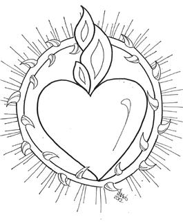 Corazones De Jesus Y Maria Easy Tattoos To Draw Mexican Art Tin Art