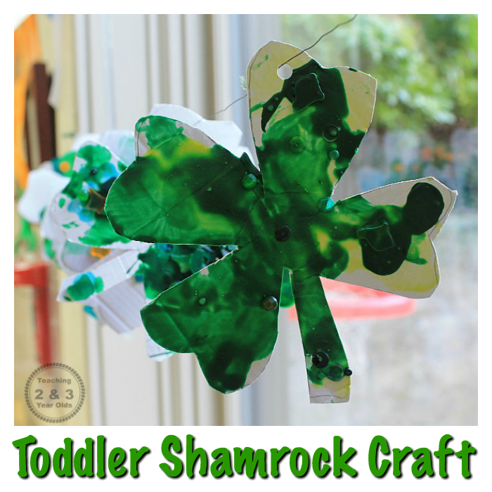 Recycle some cardboard for this fun and easy St. Patrick's Day craft for toddlers