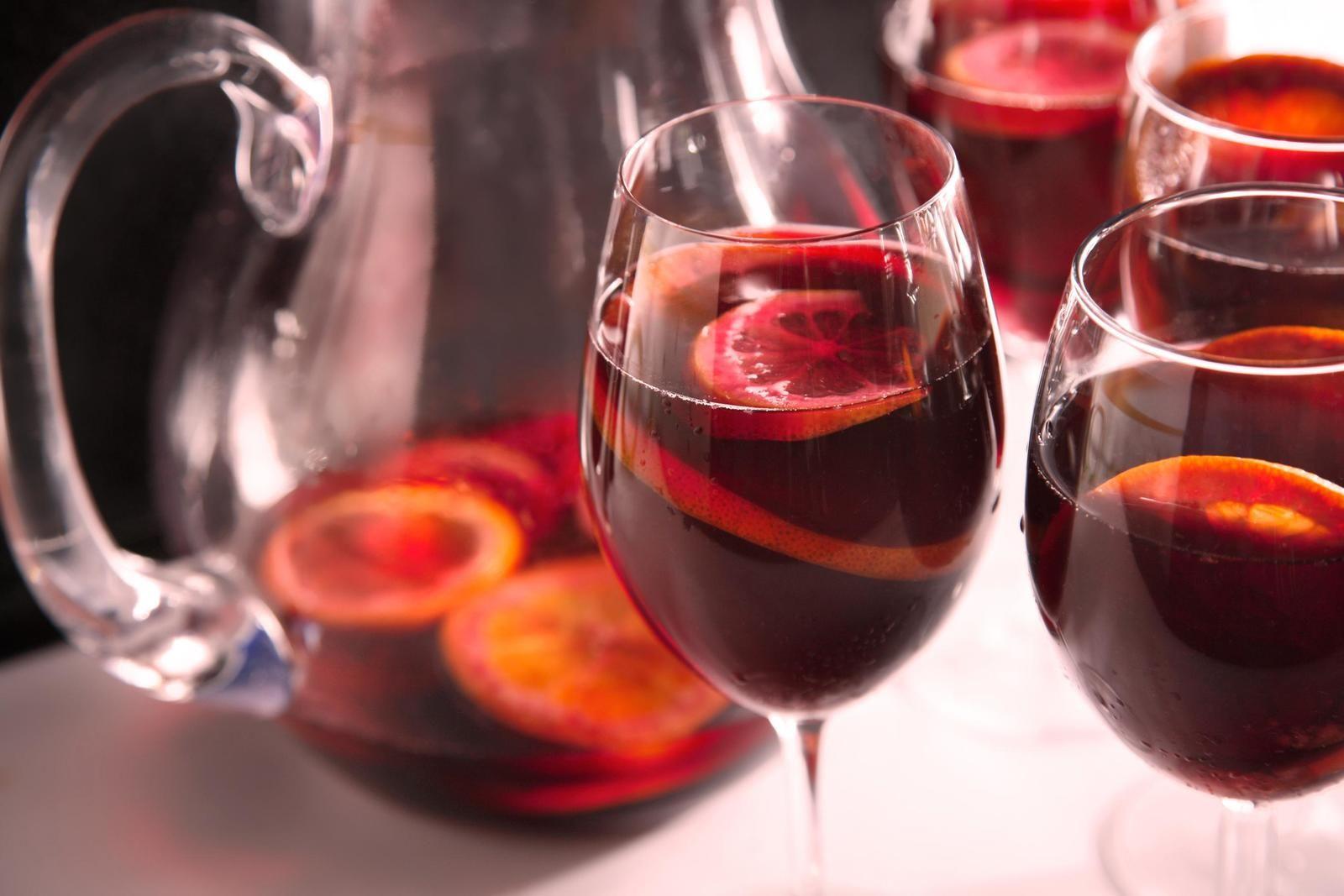 A Basic Sangria Made With Red Wine Brandy Citrus And Sparkling Water Sangria Recipes Cranberry Sangria Red Sangria
