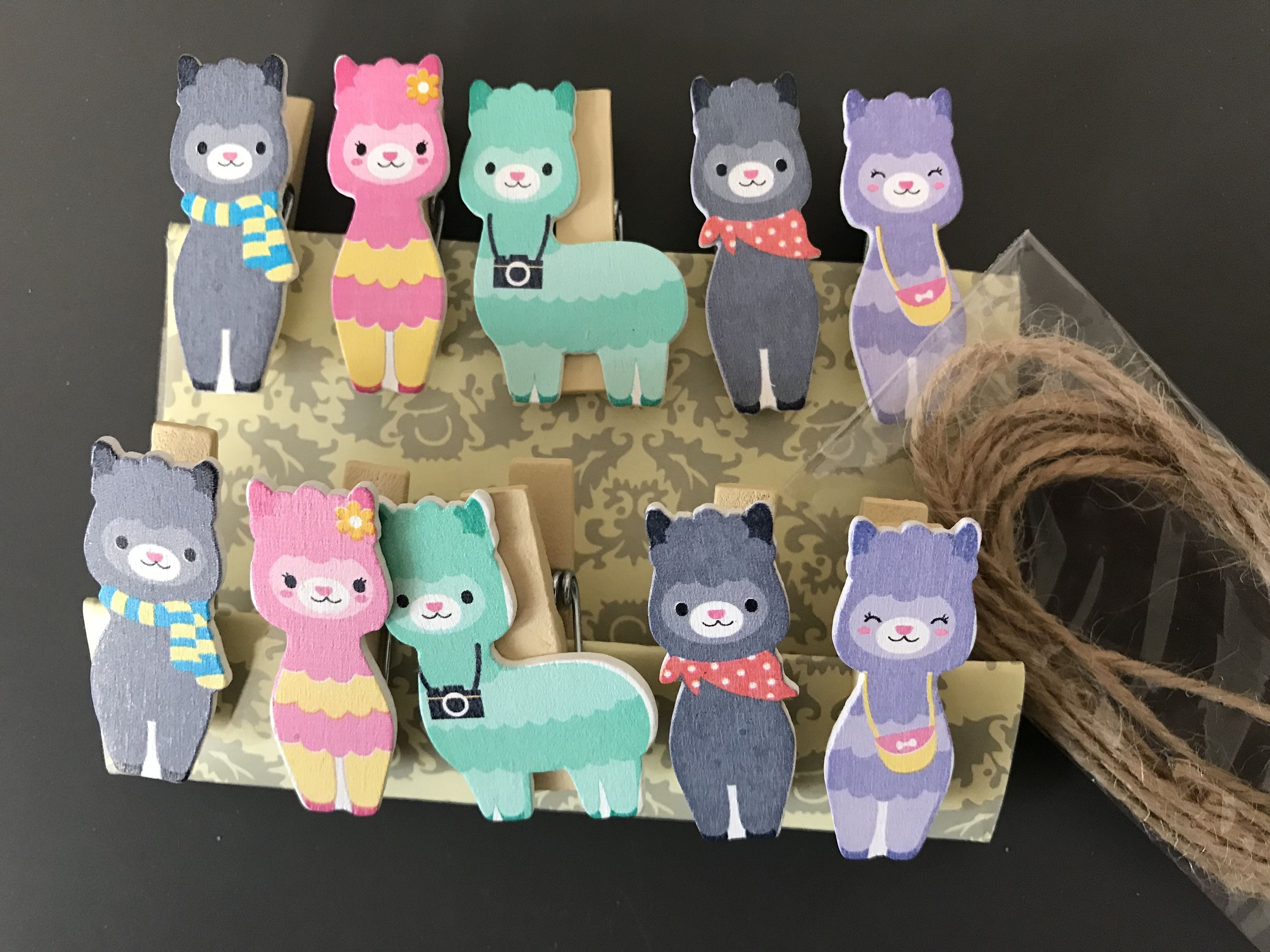 Rope Kid Craft Party Decorations Gift 10pcs Cute Cat Kitten Wooden Clips
