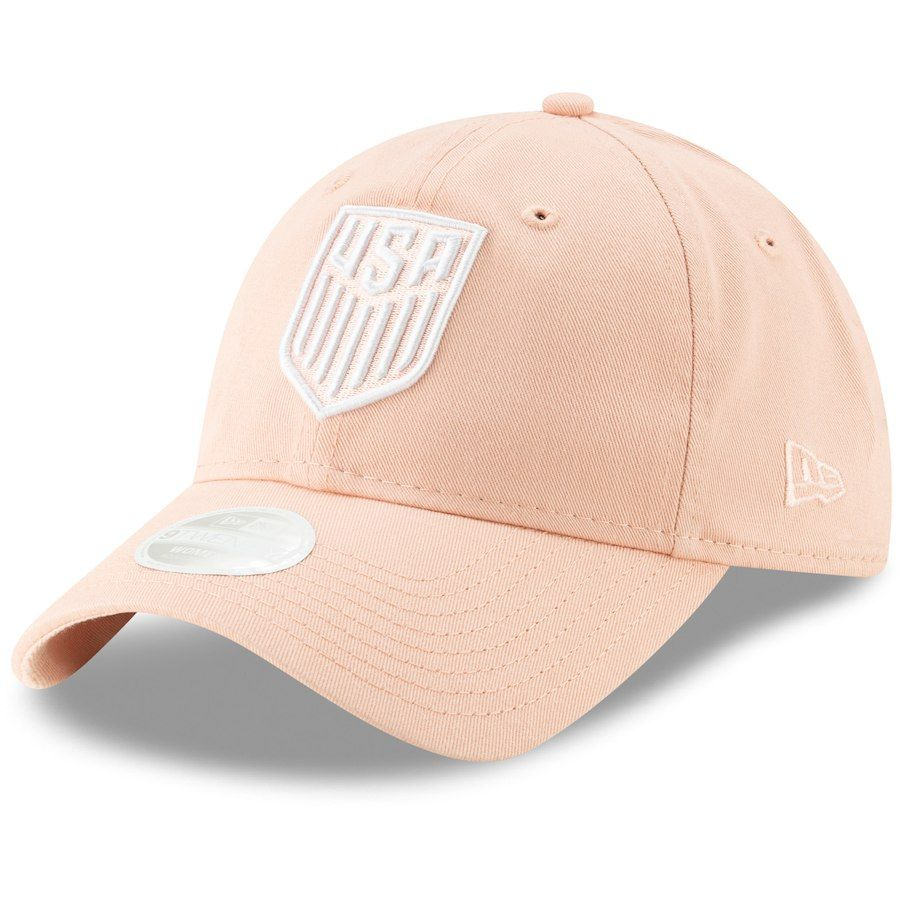 0066d9e2b87 US Soccer New Era Pink Slouch Adjustable Fall Hat