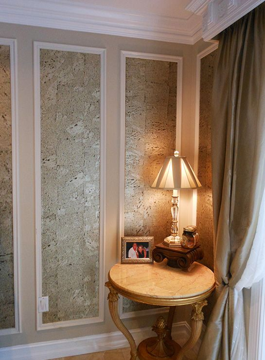 Our Metallessence Cork Wallcovering In Dining Room Wall Panels By Inviting  Home