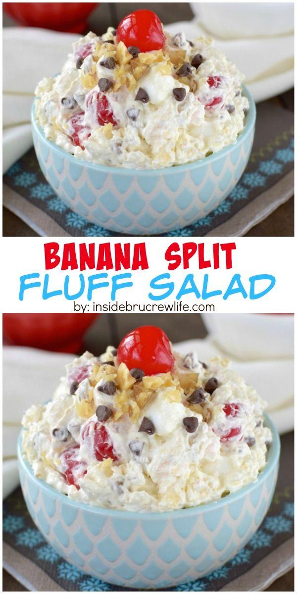 Banana Split Fluff Salad Recipe Creamy Fruit Salads