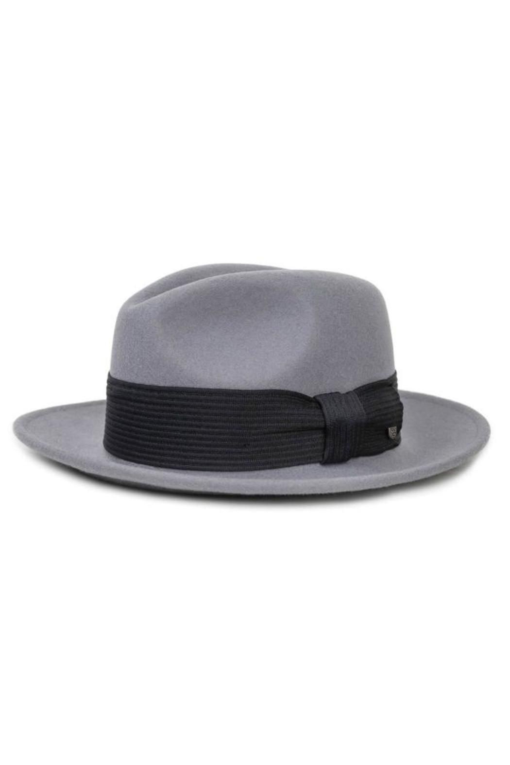 67c7498f700 The Nelson is a medium brim felt fedora with a quilted grosgrain band.  Nelson Fedora by Brixton. Accessories - Hats Providence Rhode Island