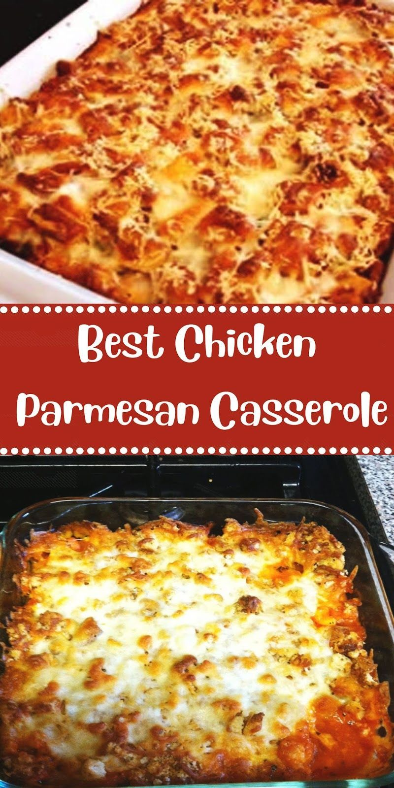 Best Chicken Parmesan Casserole In 2020 Chicken Parmesan Casserole Chicken Parmesan Recipes Chicken Recipes Casserole