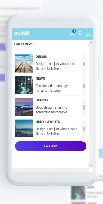 Mobili Html Mobile Template By Mobiokit On Envato Elements Mobile Template Web Design Mobile Project