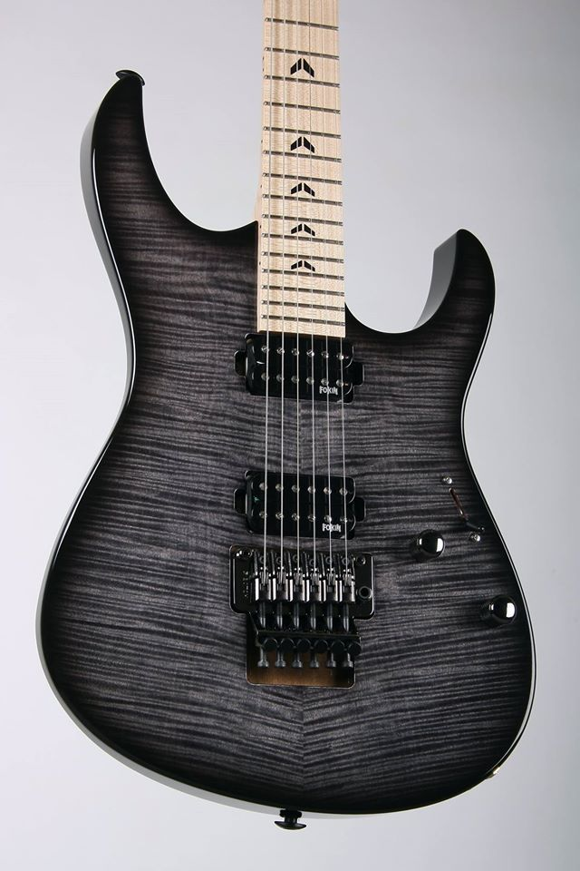 """Lepsky Guitars F model Limited Edition PS161102F.  Body: Alder, flat top Flame Maple Neck: Maple, Bolt-On Construction, traditional onу way truss rod Scale: 25,5"""" Fingerboard: no fingerboard, 24 Jescar Nickel Silver Frets radius 16"""" Inlay: Ebony Finish: gloss Hardware: Cosmo Black Bridge: Gotoh GE1996T Tuners: Gotoh SG381-07L Pickups: Fokin Hot Breeze Controls: 1 volume, 1 tone, 5 way Switch"""