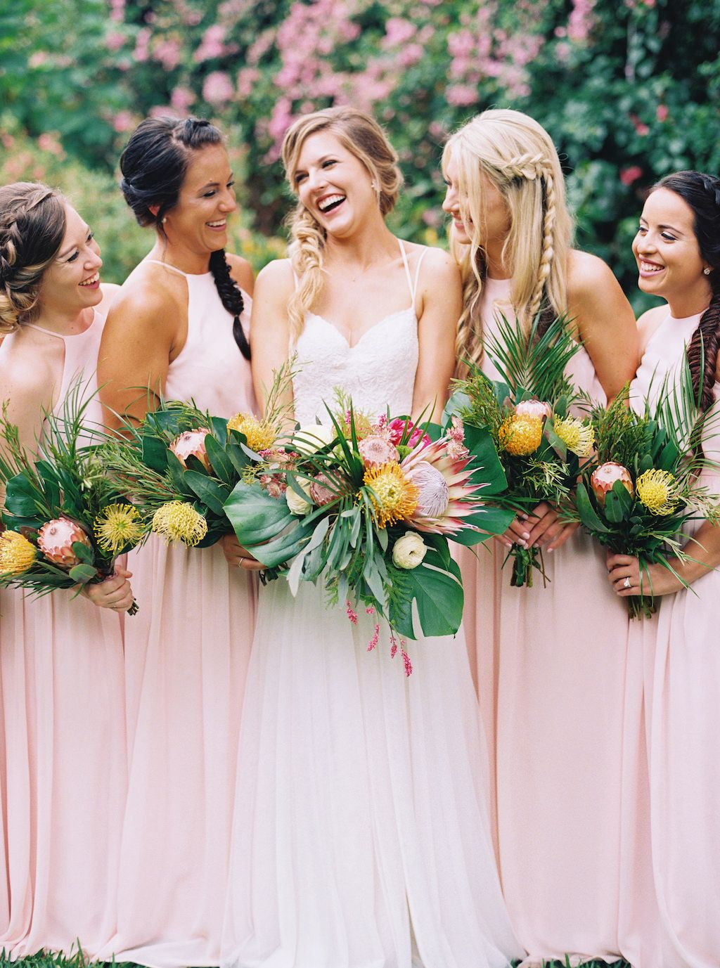 Tropical Pink Green And Gold Destination St Pete Wedding