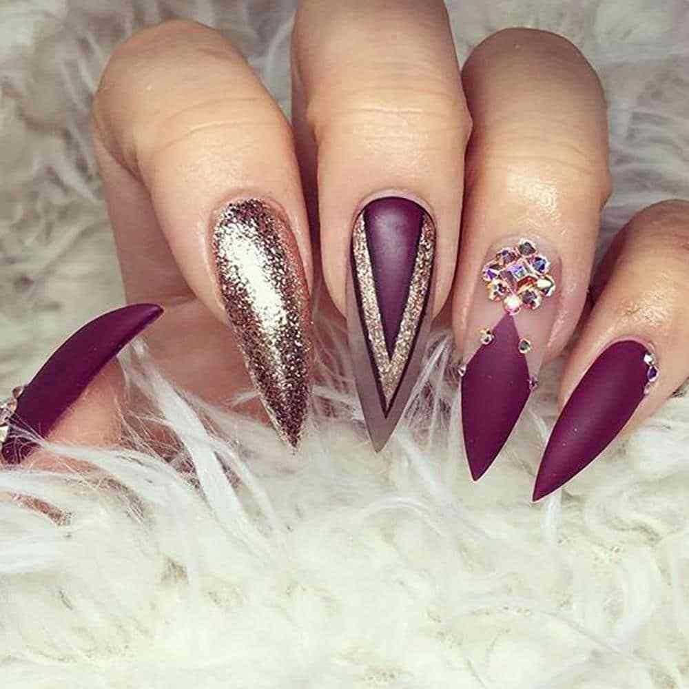 20 Worth Trying Long Stiletto Nails Designs | Pedicure nail designs ...