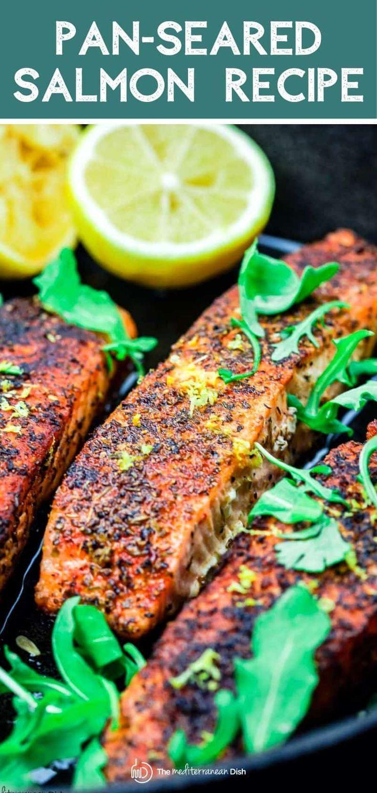 Mediterranean Style Crispy Pan Seared Salmon | The Mediterranean Dish