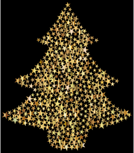 Christmas Tree Stars Gold Christmas Tree Star Vector Free Image