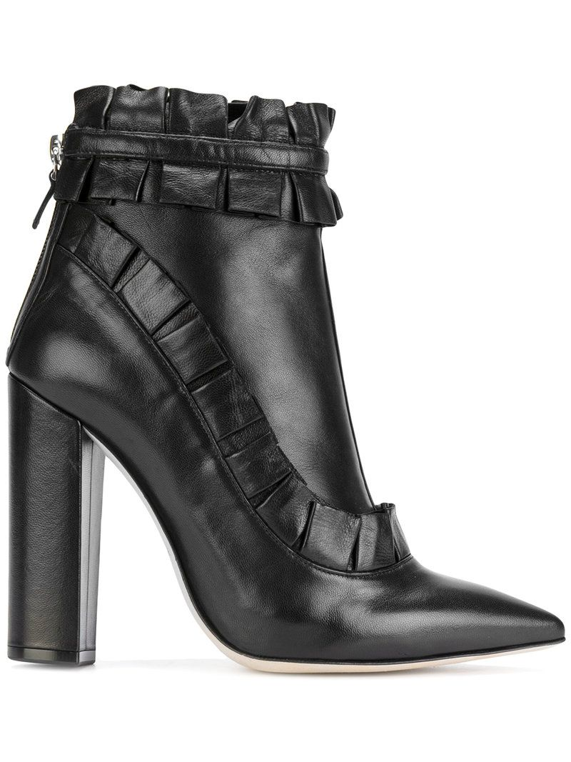 RACINE CARRéE Ruched ankle boots F8h1O6bL