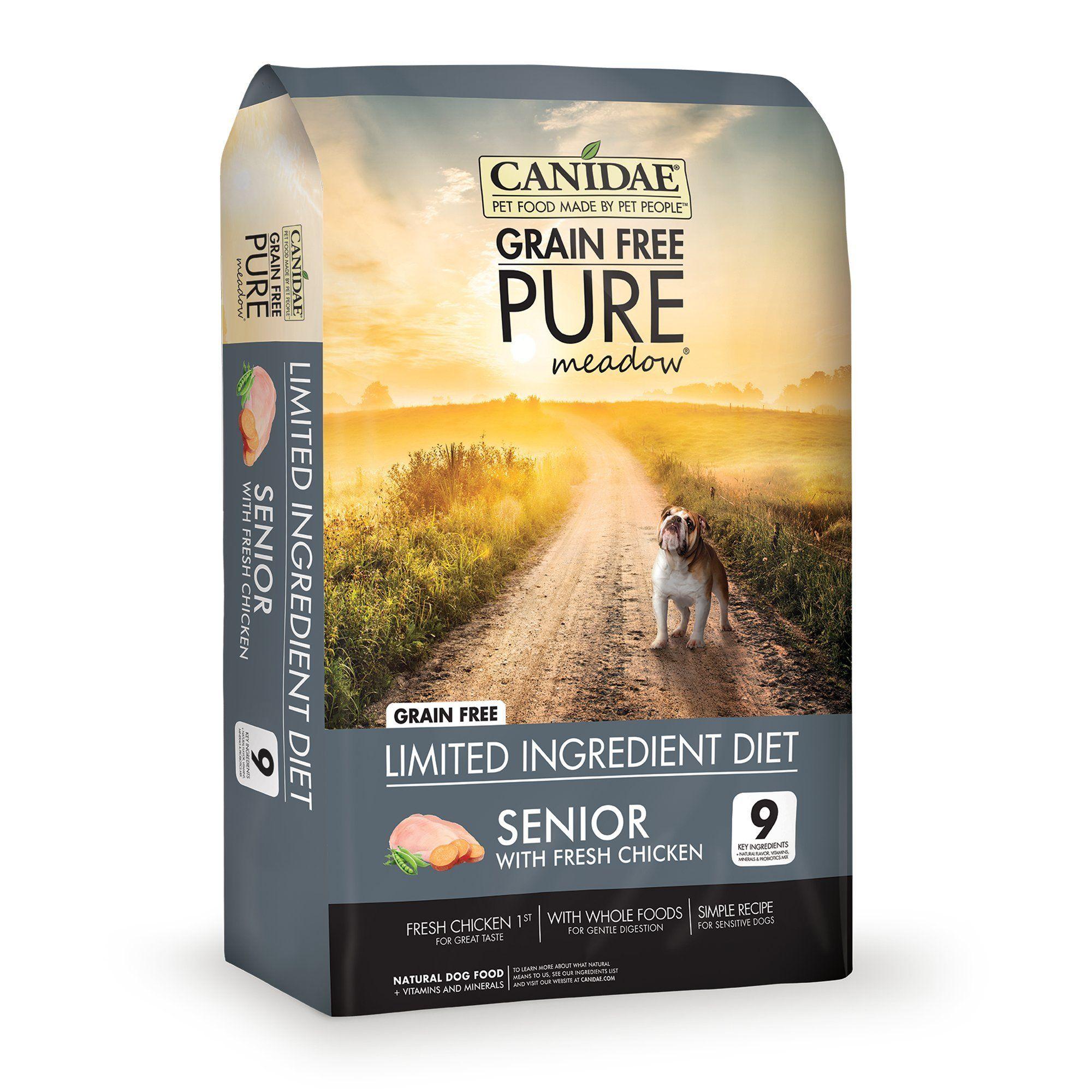 Canidae Grain Free Pure Meadow Senior Fresh Chicken Dog Food 4 Lbs