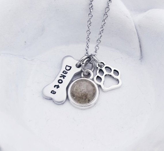 Dog Memorial Necklace loss of Dog Pet Cremation Jewelry Personalized Dog Cremation Jewelry for Ashes Dog Urn necklace Pet Loss