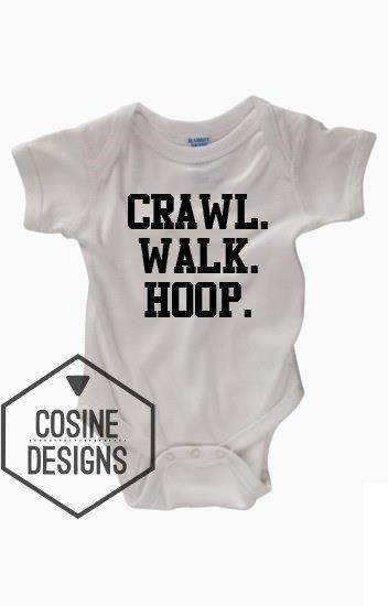 96df9f0dc013 Crawl Walk Hoop Funny Baby Bodysuit - Future Basketball Player ...
