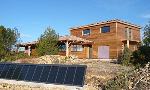 maison-ossature-bois-panneau-solaire-constructeur-biohome Bardage