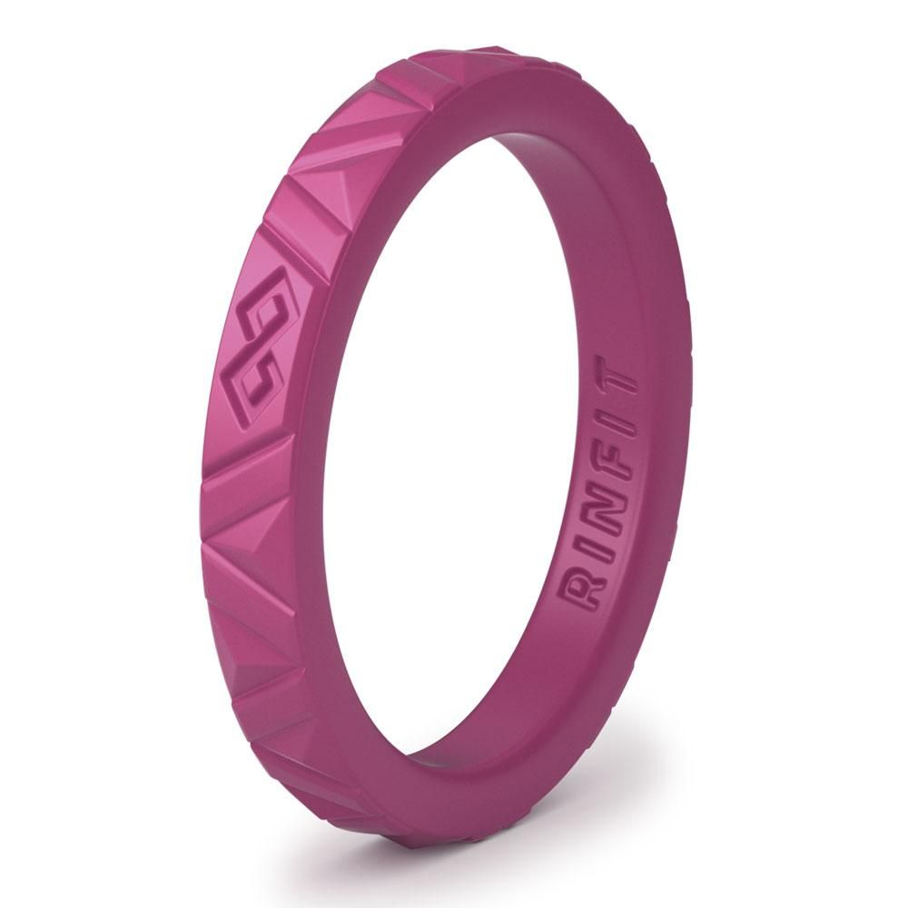Stackable Silicone Rings - Thin rubber Wedding Bands for Women ...
