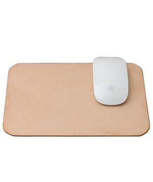 A chic mouse pad is a staple on any desk—upgrade yours to leather with this beautiful option in a neutral shade.
