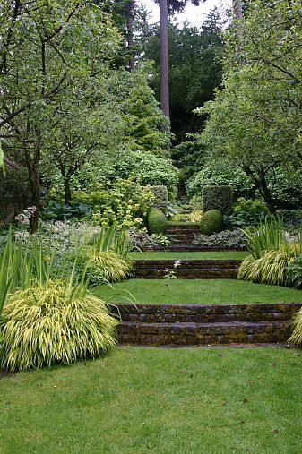 A Beautiful Terraced Garden In Portland Oregon Sloped Garden