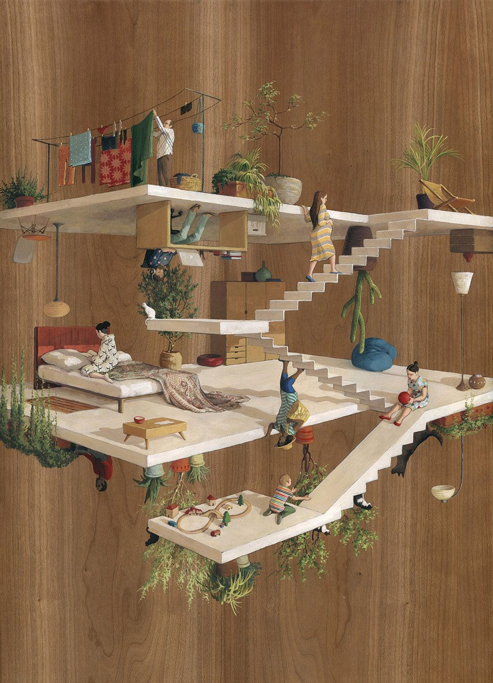 The Inverted Architecture And Gravity Defying Worlds Of Cinta Vidal     Cupula Cintapinta Stairs