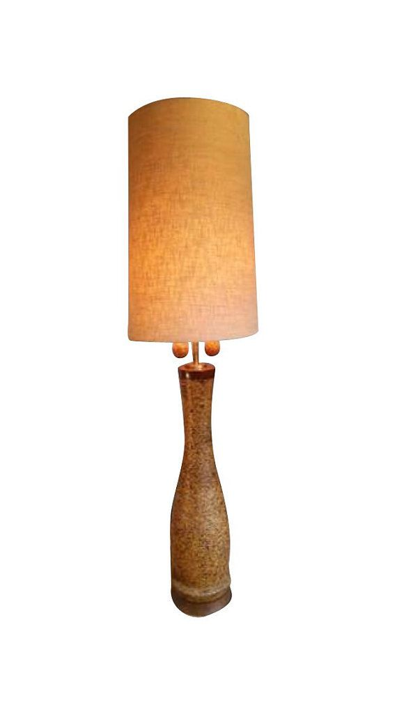 Vintage 7 tall milo baughman style cork lamp with original shade vintage 7 tall milo baughman style cork lamp with original shade aloadofball Images