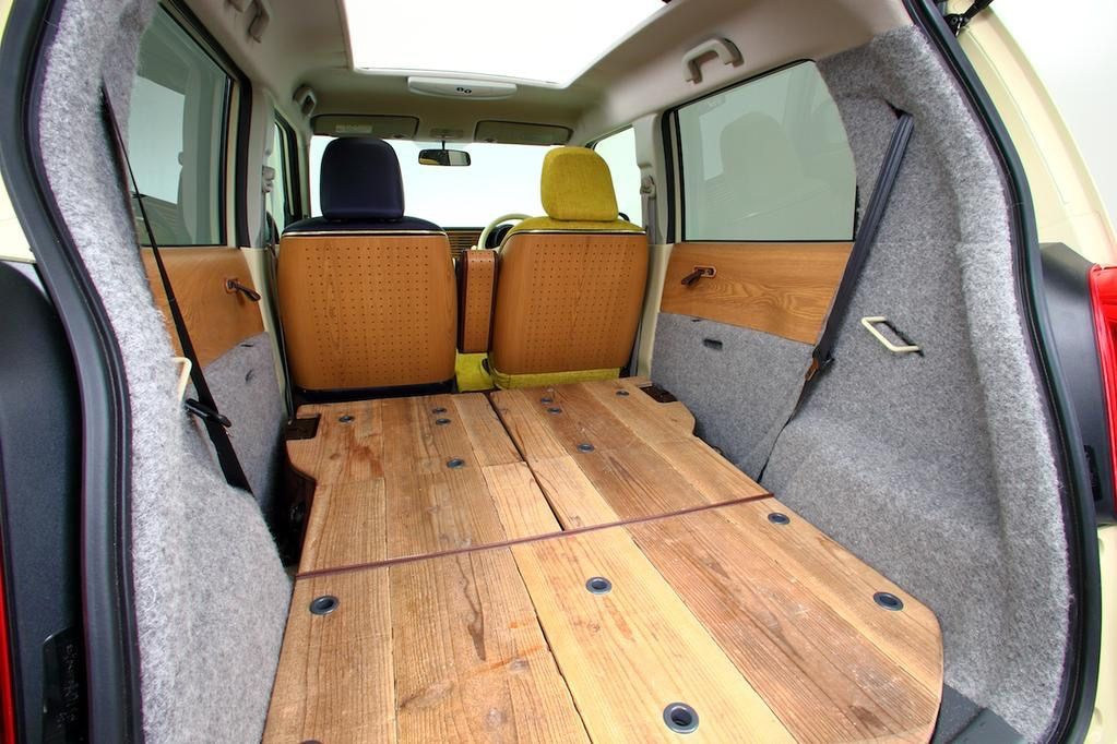 Honda N One Natural Concept Is A Funky Kei Ecobox With Wooden Interior Honda Interior Van Dwelling