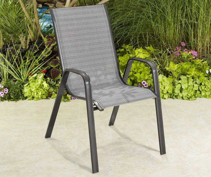 Wilson & Fisher Brentwood Black Sling Patio Chair Patio