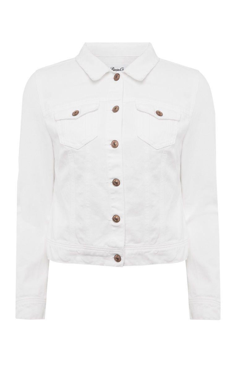 Veste en jeans blanc femme