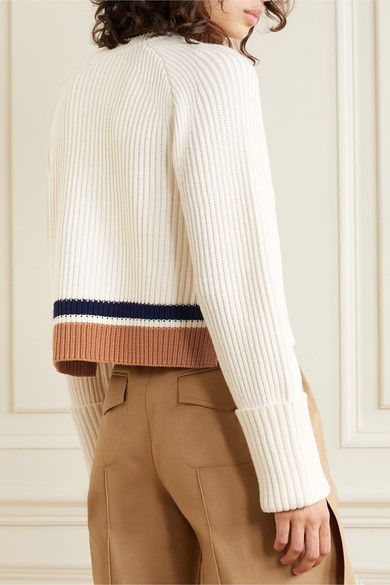 Proenza Schouler White Label | Striped ribbed cotton and
