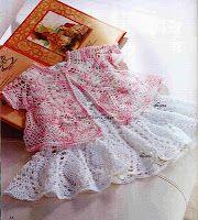 My Crochet , Mis Tejidos: Vestido Tejido en PiÑAS para Niñas.
