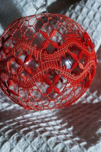 Christbaumkugeln 25 Cm.Christbaumkugel кружево кружево рождество и румынские кружева