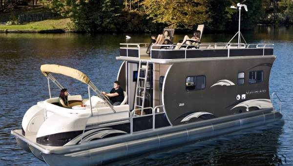 Image detail for pontoon boats manufacturer a pontoon for Cool fishing boat accessories