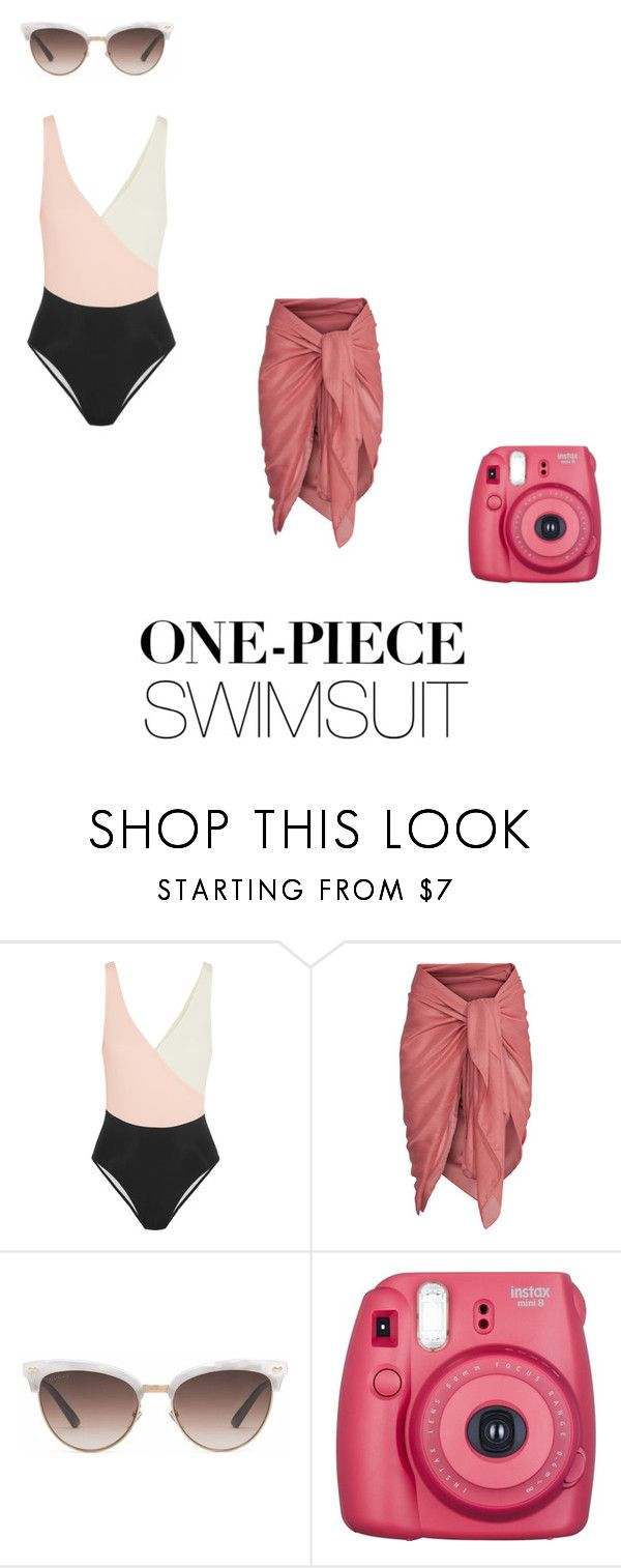 """SwimSuit"" by anggitaeva on Polyvore featuring Solid & Striped, Gucci and onepieceswimsuit"