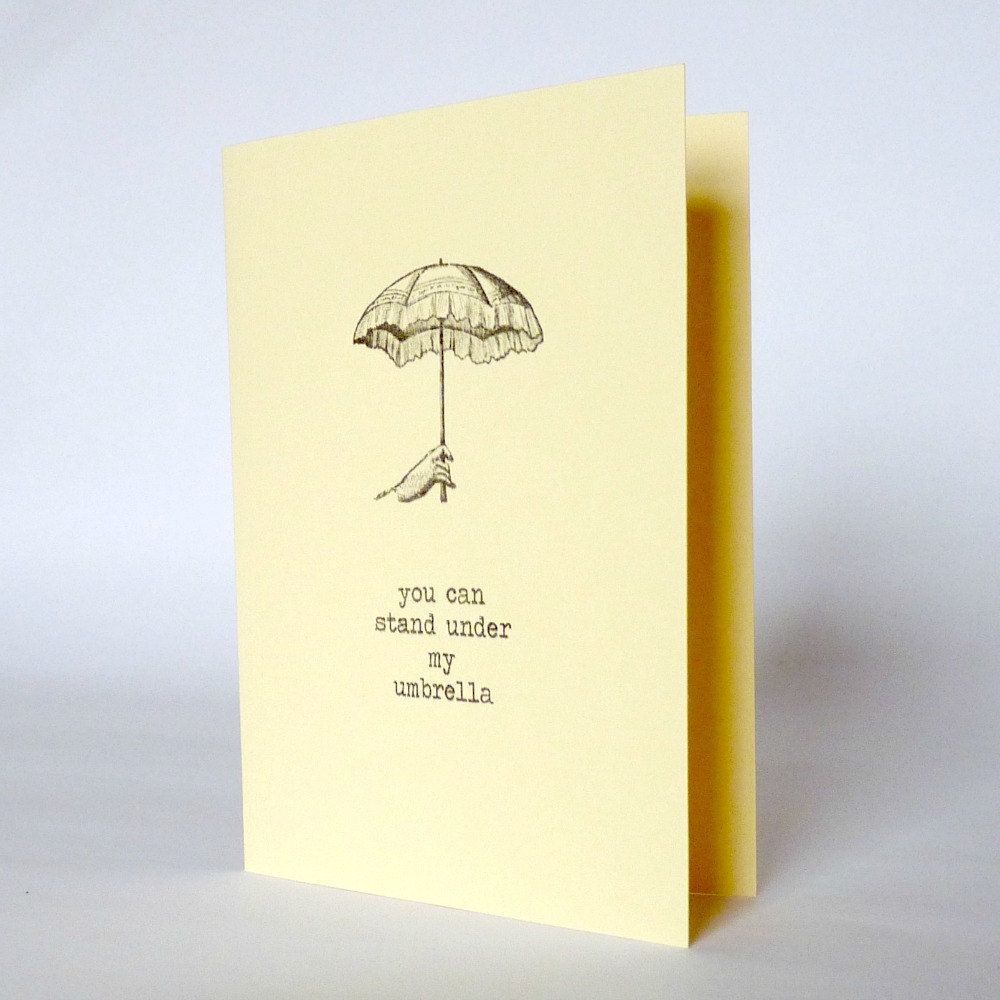 hand made valentines love card you can stand under my umbrella – Valentines Cards for Best Friends