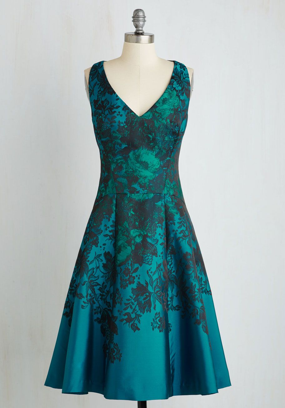 Personal Boldness Fit and Flare Dress | ModCloth, Vintage dresses ...