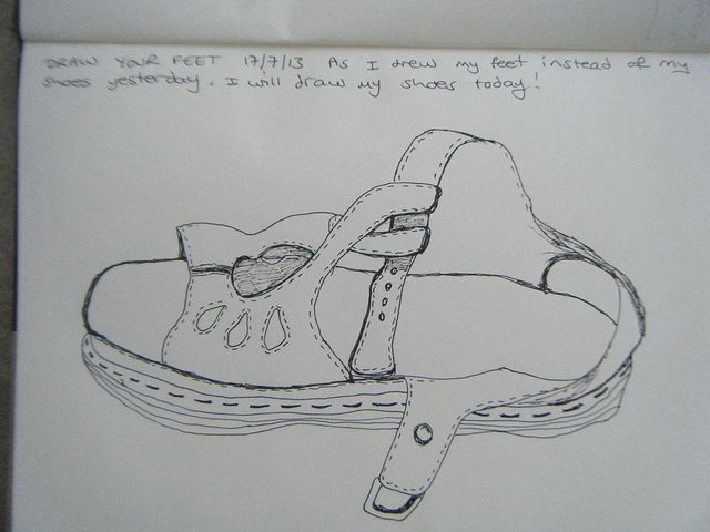 Line Art Shoes : Drawing our lives contour shoe art and draw