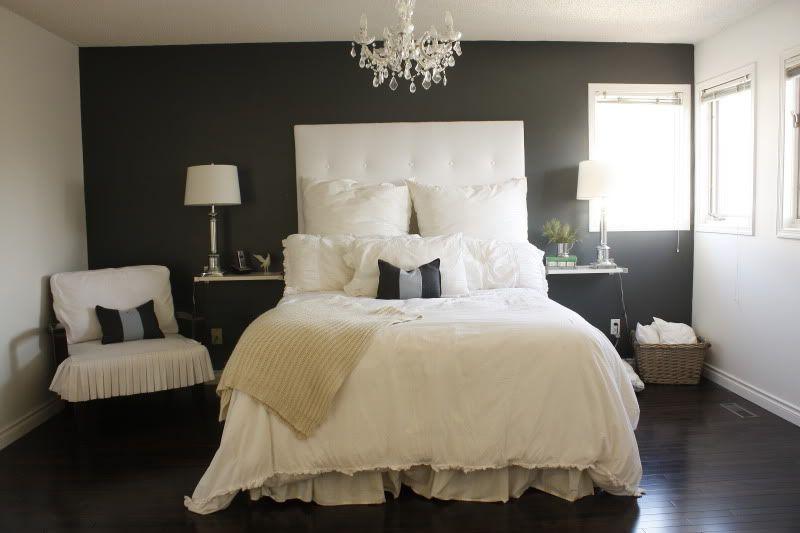 Best Dark Grey Accent Wall Dark Floors White Ceiling And 400 x 300