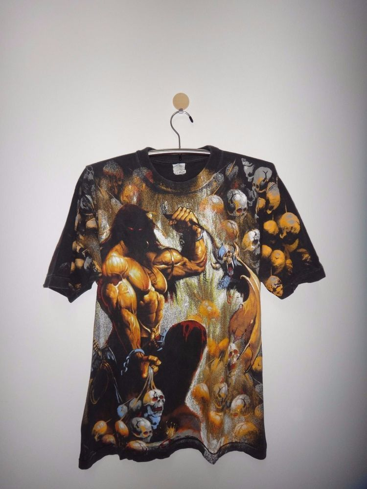 Vintage Manowar All Over Print Full Print T Shirt Heavy Power Metal New York Tee 100cotton Graphictee Print T Shirt Tees Shirts