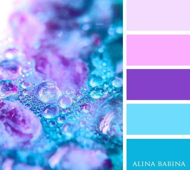 Light Blue And Purple Colour Palette