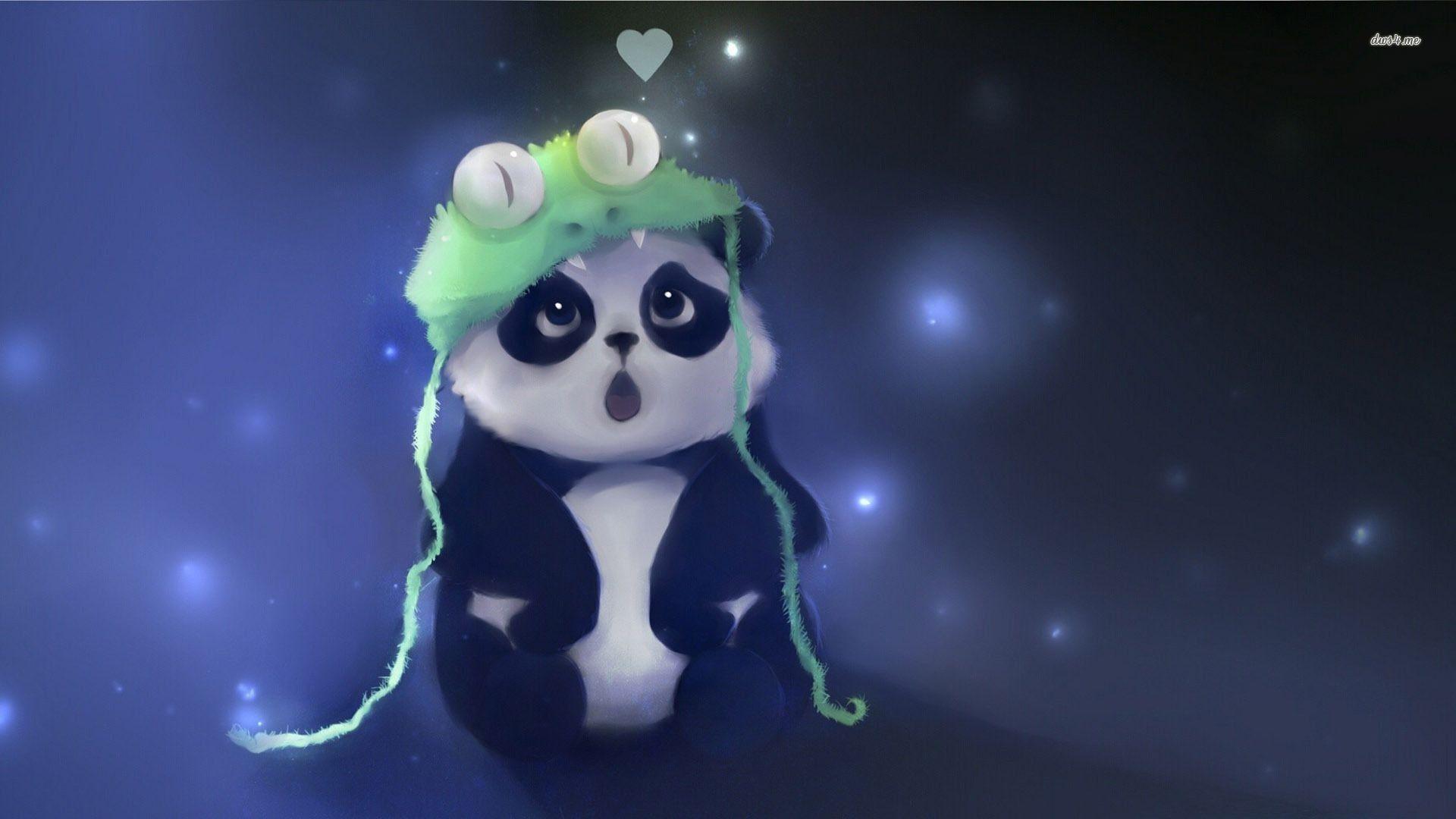 HD Cute Panda Wallpaper Panda wallpapers, Cute panda