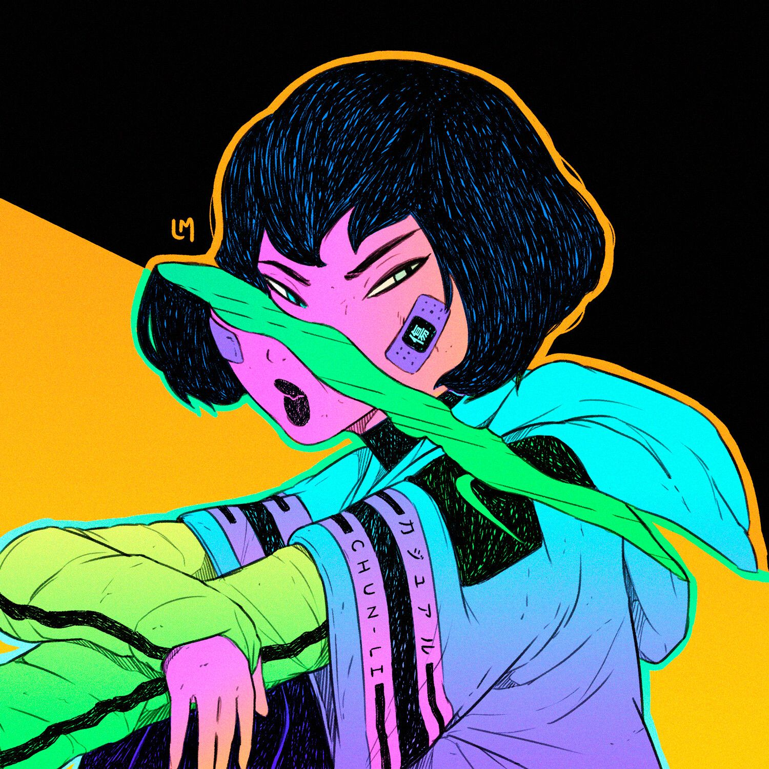 ArtStation - Casual Vaporwave Girls - Style and Color ...