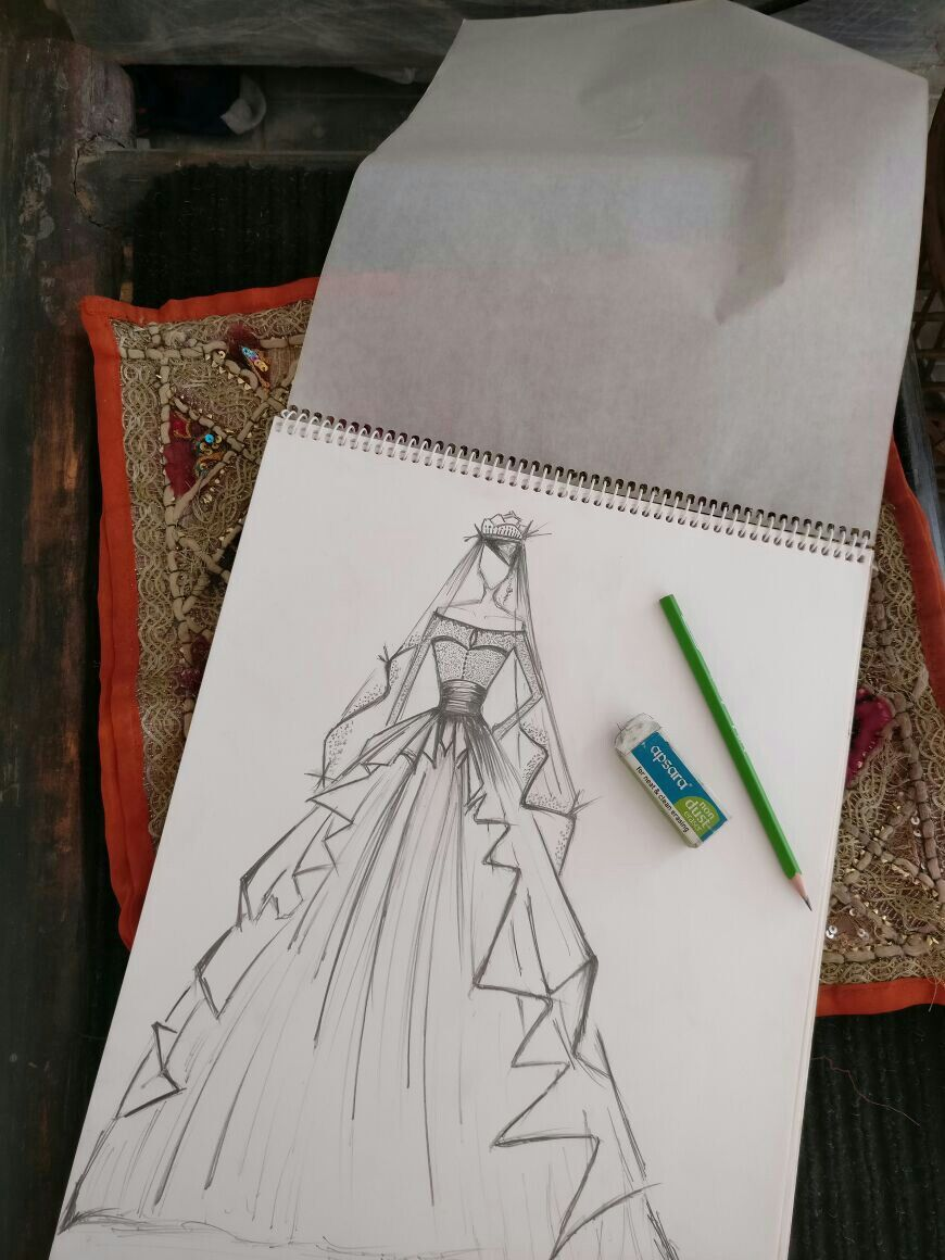 Wedding dress sketches pinterest fashion design wedding dress