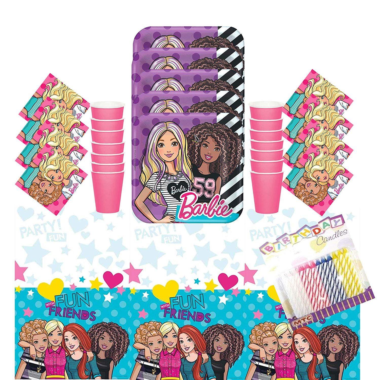 Party Bundle Barbie Princess Birthday Party Supplies Dessert Paper Plates 24 Count
