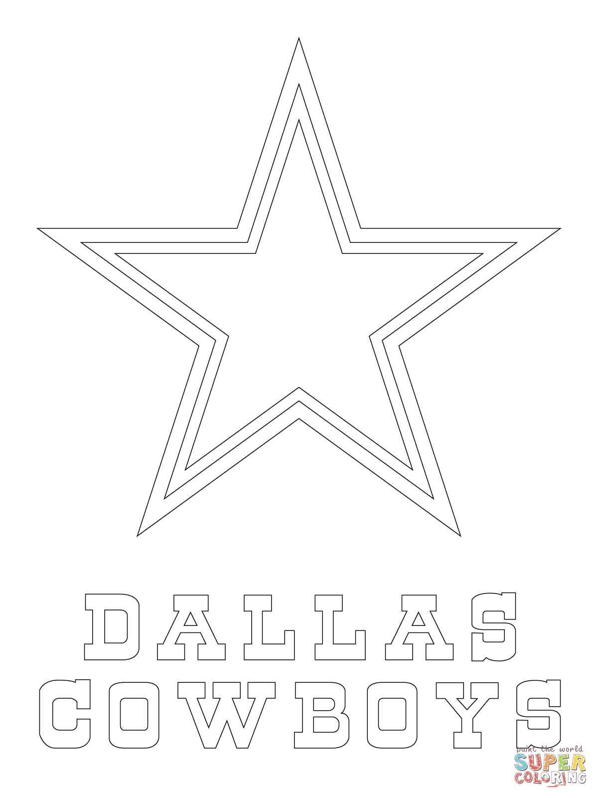 Dallas Cowboys Logo Coloring Page Free Printable Coloring Pages