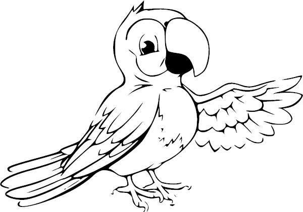 Parrot VI Vinyl Decal   Drawings, Animal drawings, Bird ...