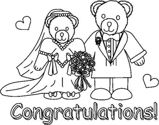 Bride And Groom Coloring Pages Wedding Wedding Coloring Pages