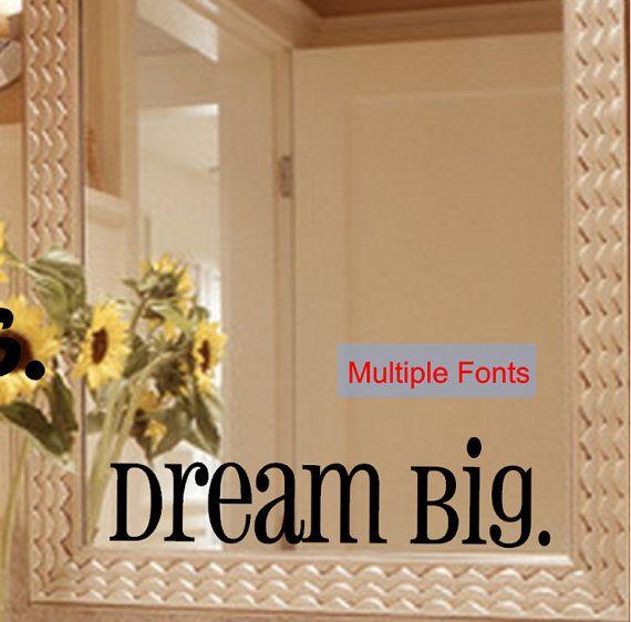 Dream Big Mirror Decal Sticker Mirror Decal Sticker