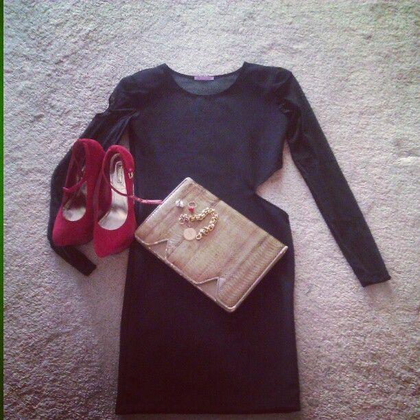 The simple, sexy SD girl! Jlynne body con cut out dress w/sheer sleeves. Super sexy! http://shavonnedeann.com - @shavonne_deann- #webstagram