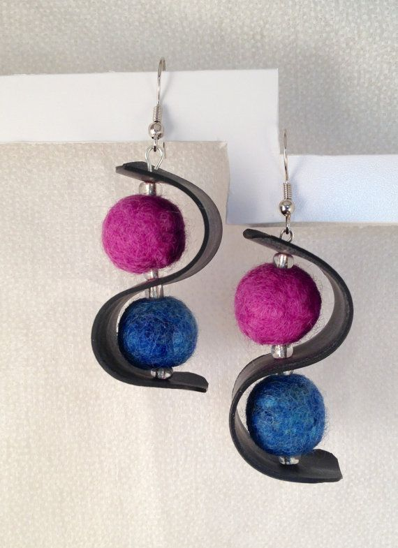 Upcycled Inner Tube and Felted Ball by PixiePawsShop on Etsy, $11.50